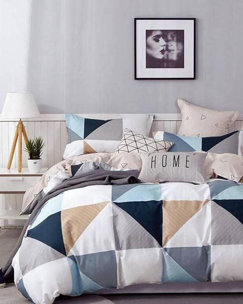 MERKURY MARKET Bavlnená  saténová  posteľná  bielizeň  Albs-01119b/2  140x200
