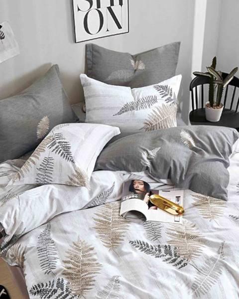 MERKURY MARKET Bavlnená  saténová  posteľná  bielizeň  Albs-01128b/2  140x200