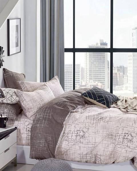 MERKURY MARKET Bavlnená  saténová  posteľná  bielizeň  Albs-01130b/2  140x200