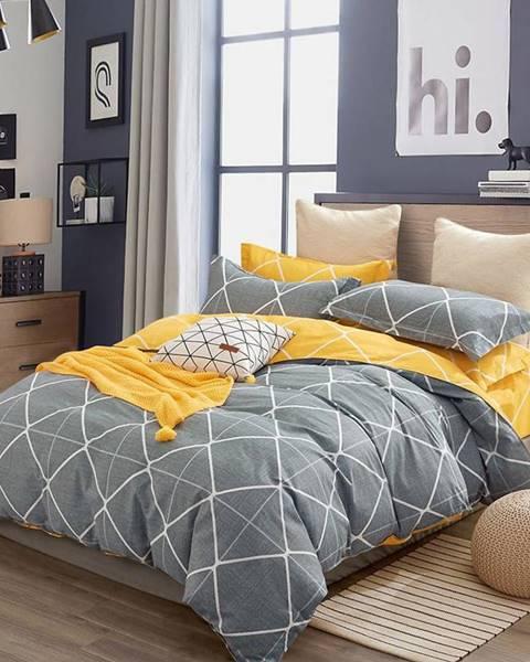 MERKURY MARKET Bavlnená saténová posteľná bielizeň ALBS-01196B