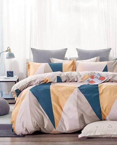 Bavlnená saténová posteľná bielizeň 140x200 ALBS-01198B