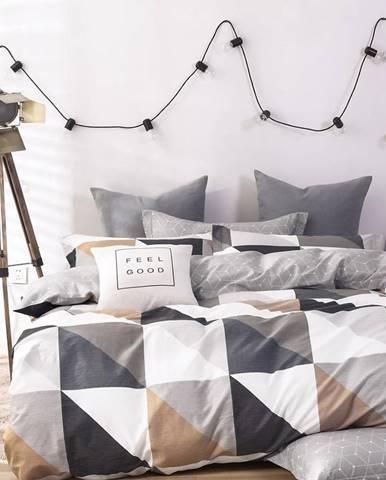 Bavlnená  saténová  posteľná  bielizeň  Albs-01105b/2  140x200