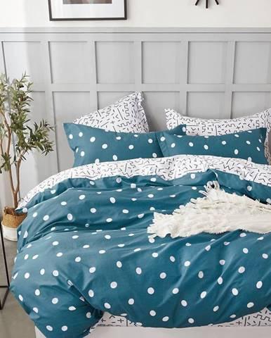 Bavlnená  saténová  posteľná  bielizeň  Albs-01112b/2  140x200