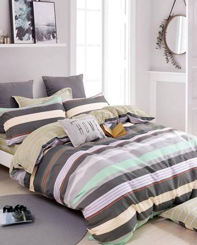 Bavlnená  saténová  posteľná  bielizeň  Albs-01113b/2  140x200