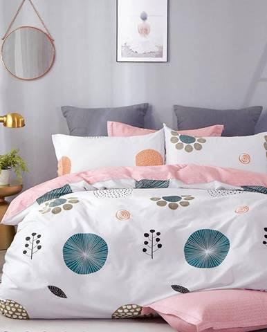 Bavlnená  saténová  posteľná  bielizeň  Albs-01116b/2  140x200