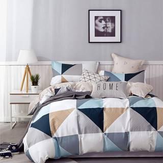 Bavlnená  saténová  posteľná  bielizeň  Albs-01119b/2  140x200
