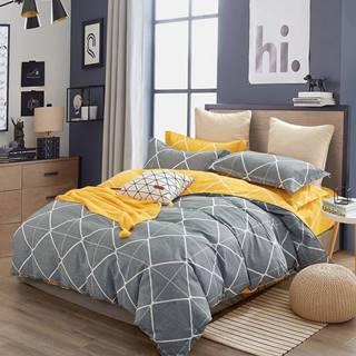Bavlnená saténová posteľná bielizeň ALBS-01196B