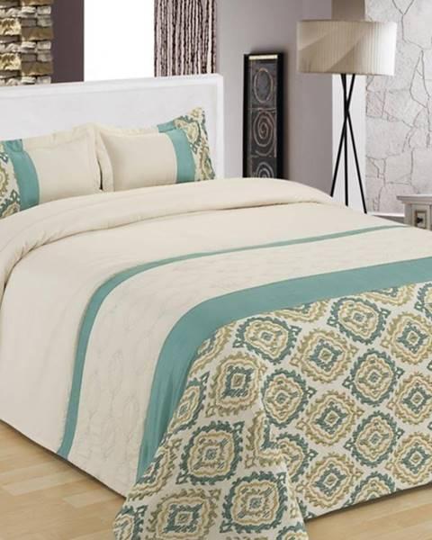 MERKURY MARKET Prikrývka na posteľ  170x220/ 1x60x40 NL-C919 bielý/modrý