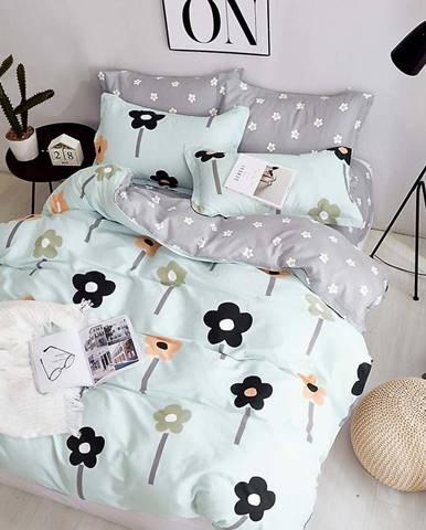 Bavlnená sátenová posteľná bielizeň ALBS-0927B/2 140x200