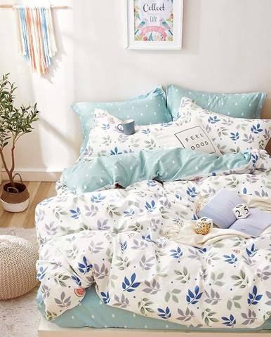 Bavlnená sátenová posteľná bielizeň ALBS-0974B/2 140x200