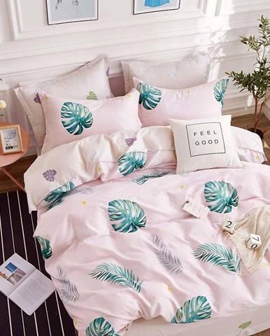 Bavlnená sátenová posteľná bielizeň ALBS-0975B/2 140x200 lasher