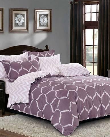 Bavlnená sátenová posteľná bielizeň ALBS-0976B/2 140x200 lasher
