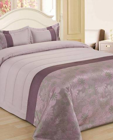 Prikrývka na posteľ  170x220/ 1x60x40 NL-C953 fialový