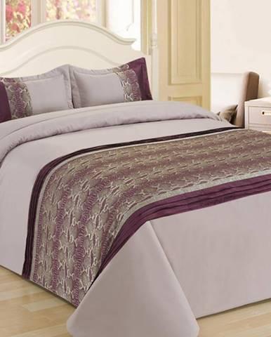 Prikrývka na posteľ  170x220/ 1x60x40 NL-C958 fialový