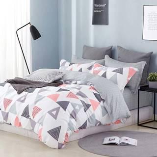 Bavlnená sátenová posteľná bielizeň ALBS-0980B/2 140x200