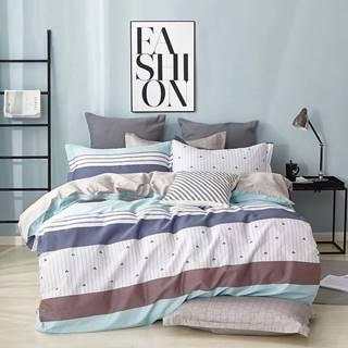 Bavlnená sátenová posteľná bielizeň ALBS-0991B/2 140x200