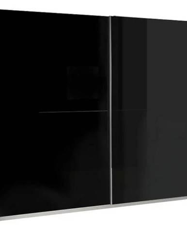 Skriňa Lux 1  244 cm čierna/biela