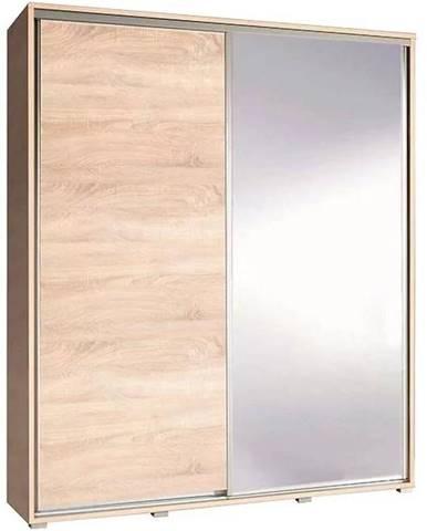Skriňa Penelopa 155 cm zrkadlová