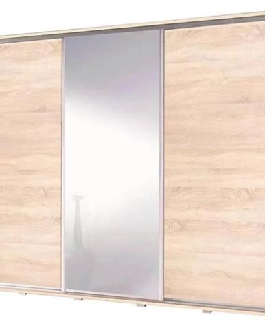 Skriňa Penelopa 255 cm zrkadlová