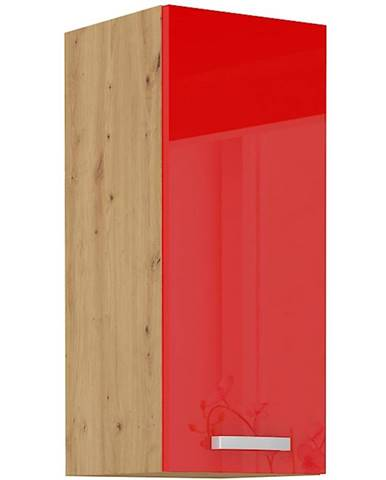 Skrinka do kuchyne Artisan červená lesk 30G-72 1F