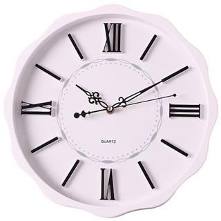 Nástenné hodiny biela 35 cm