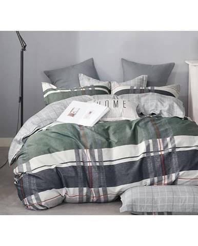 Bavlnená saténová posteľná bielizeň albs-01077b/2 140x200 lasher