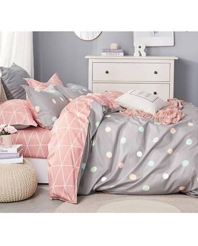 Bavlnená saténová posteľná bielizeň albs-01081b/2 140x200 lasher