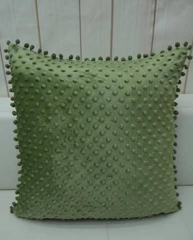 Obliečka na vankúš s brmbolcami (2) 45x45