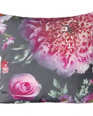 Obliečka na vankúš ZS1840 40x40 šedá/ružové kvety
