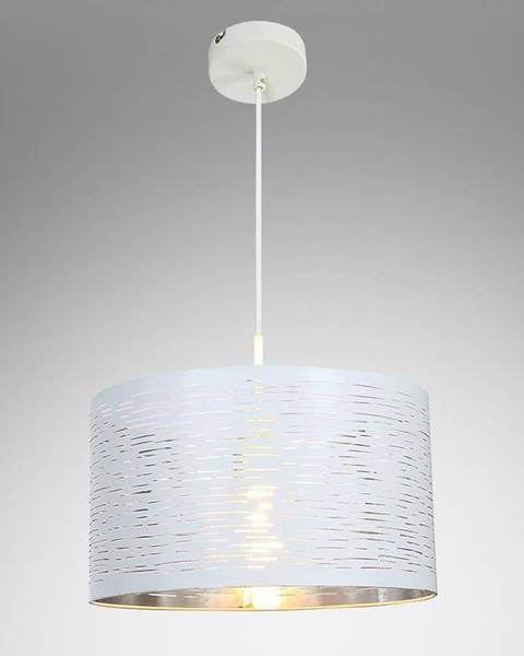 MERKURY MARKET Závesná lampa 15341 bielo-strieborná LW1
