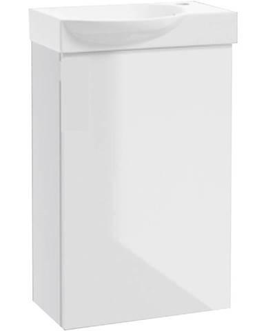 Kúpeľňová skrinka Clint 40 biela