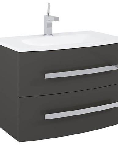 Kúpeľňová skrinka pod umývadlo Perla antracit 80 2S