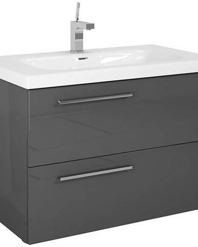 Kúpeľňová skrinka pod umývadlo Royal  90 2S anthracite DSM