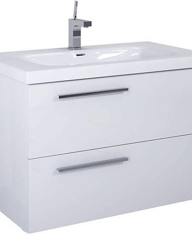Kúpeľňová skrinka pod umývadlo Royal 90 2S biela DSM
