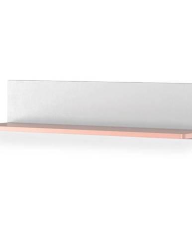 Polička  Luna LN-14 biely/ružové