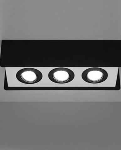 Stropná Lampa Quadro 3 BLACK A-411