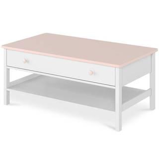 Konferenčný stolík 1S Luna LN-15 biely/ružové