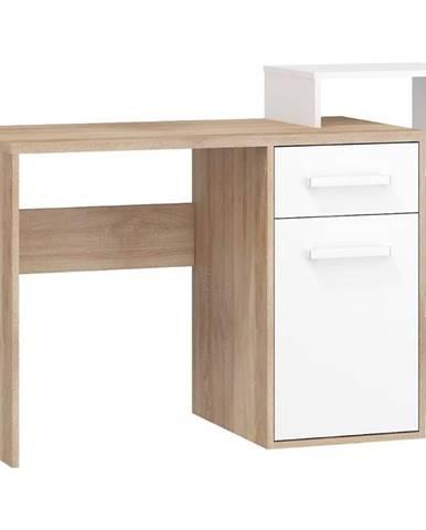 Písací stôl P Rio-04 sonoma svetlý/biely