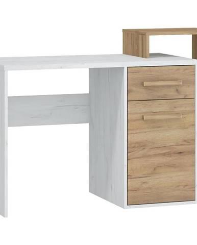 Písací stôl RIO P craft biela/zlatý