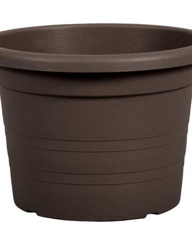 Kvetináč Cilindro plastový hnedý d50x35cm