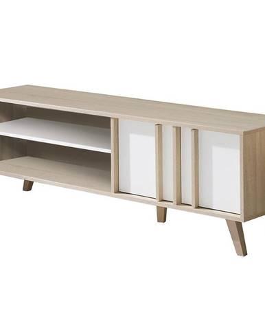 TV stolík Malmo 08 Sonoma/Biały