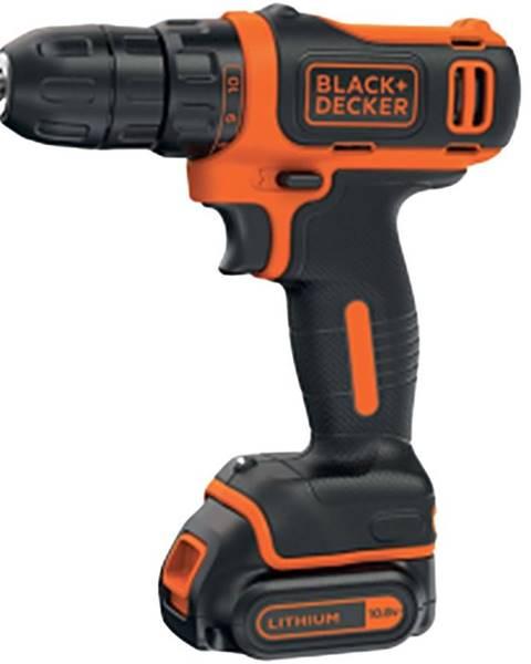 BLACK+ DECKER Aku vŕtačka 10.8V Li-Ion rýchle nabíjanie