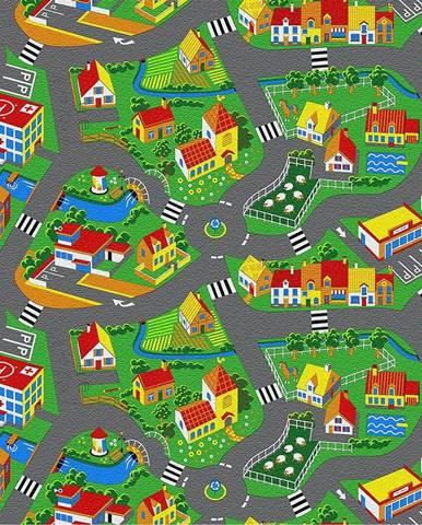 Metrážny koberec 4m Little Village 90. Tovar na mieru