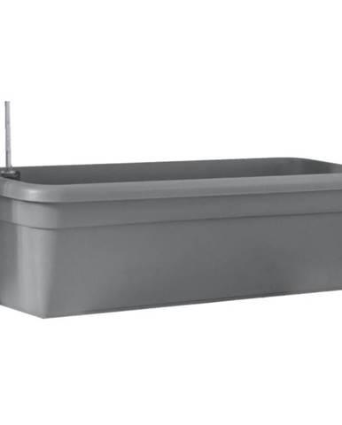 Samozavlažovací truhlík SIENA - antracit - 22x60 cm
