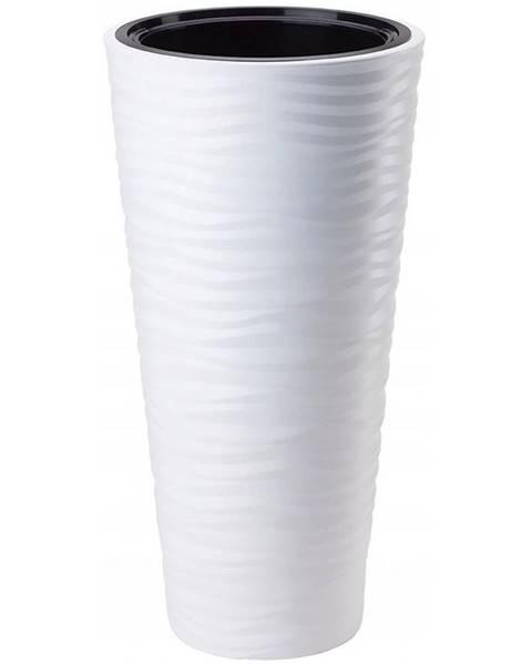 MERKURY MARKET Sahara Dunes Slim okrúhly 30 cm (s vložkou) biely