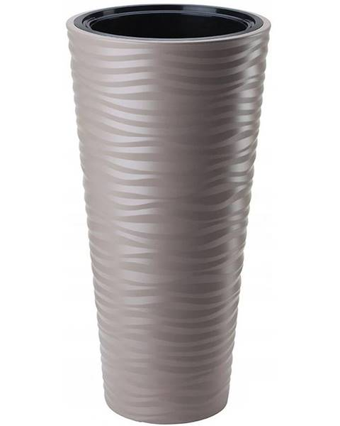 MERKURY MARKET Sahara Dunes Slim okrúhly 30 cm (s vložkou) taupe