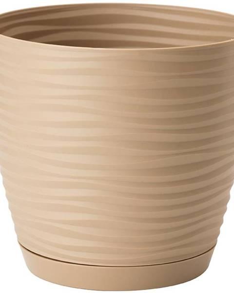 MERKURY MARKET Sahara Petit okrúhly s podstavcom 13 cm caffe latte