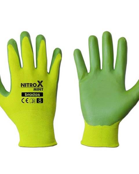 MERKURY MARKET Ochranné rukavice Dámske nitrox mint veľkosť 8