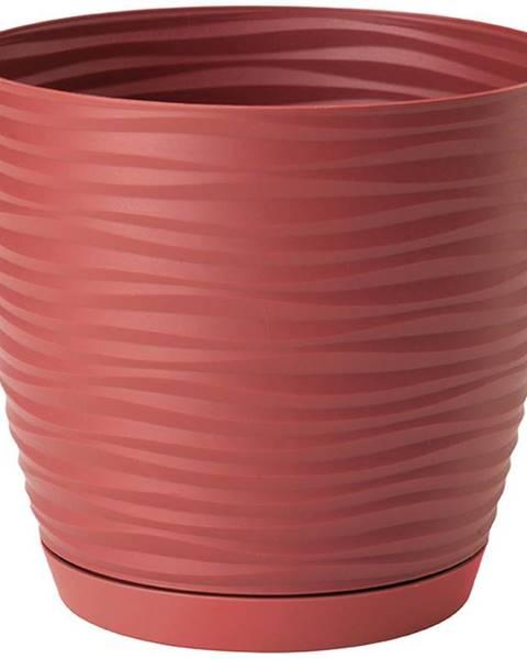 MERKURY MARKET Sahara Petit okrúhly s podstavcom 17 cm červená