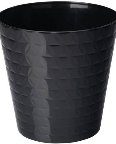 Kvetináč Diament Petit 15 cm čierna